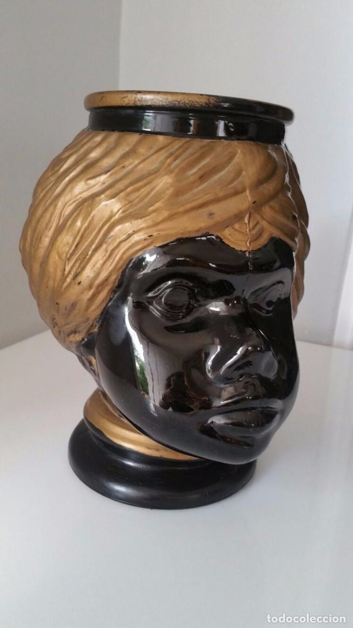 Antigüedades: Jarrón cabeza Testa di Moro Fornasetti - Foto 15 - 101280583