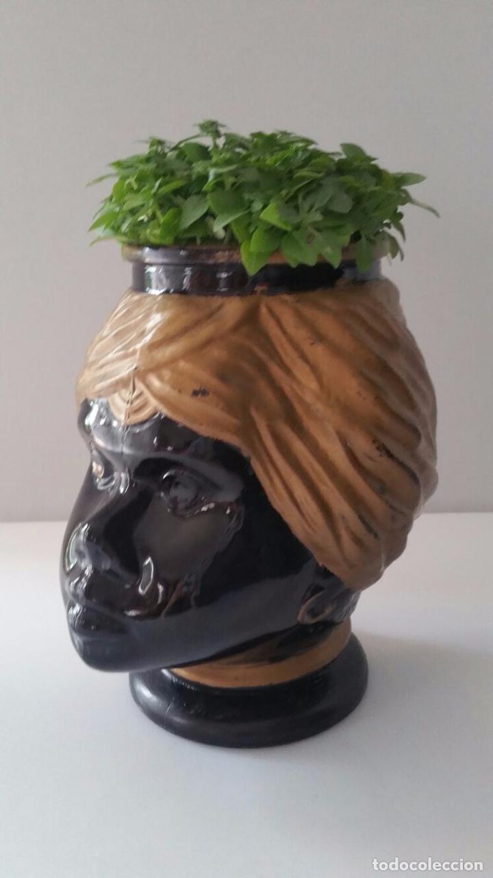 Antigüedades: Jarrón cabeza Testa di Moro Fornasetti - Foto 16 - 101280583