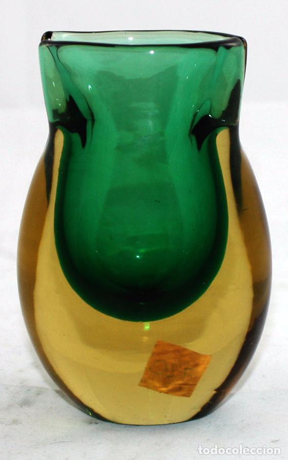 ANTIGUO CRISTAL VENECIANO DE ZANFIRICO LATTICINO SALVIATI (MURANO) (Antigüedades - Cristal y Vidrio - Murano)