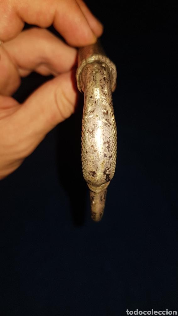 Antigüedades: Antiguo bastón en plata con cabeza de ave - Foto 3 - 101282096