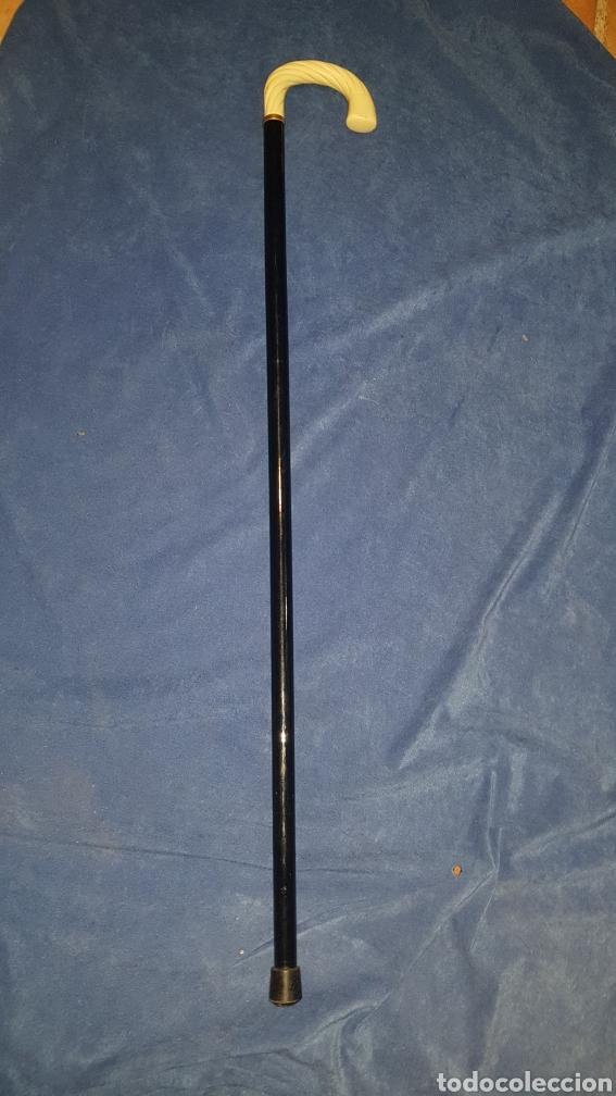 Antigüedades: Bastón negro con empuñadura posiblemente de hueso - Foto 3 - 101282890