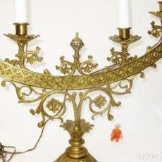 Antigüedades: EXCEPCIONAL CANDELABRO ANTIGUO FRANCES LAMPARA ALTAR IGLESIA CIRCA 1840 CAPILLA DECORACION USO . Lote 101292459