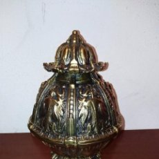Antigüedades: GRAN BOLA DE BRONCE PORTUGUÉS DE LÁMPARA ANTIGUA. Lote 101295139