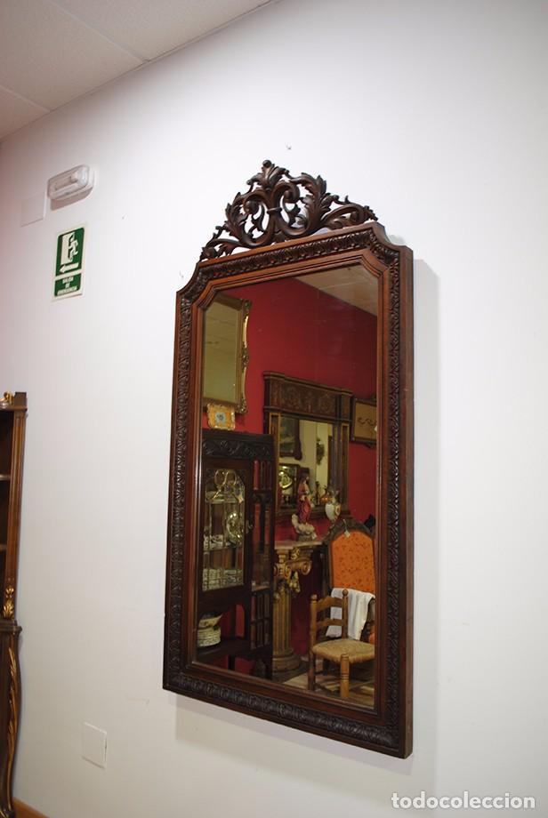 Antigüedades: ESPEJO ANTIGUO DE MADERA TALLADA, LUIS XV - Foto 2 - 101295335