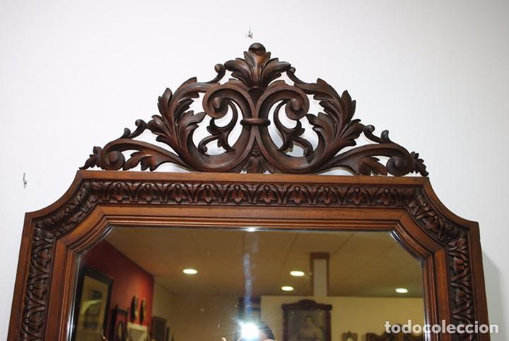Antigüedades: ESPEJO ANTIGUO DE MADERA TALLADA, LUIS XV - Foto 4 - 101295335
