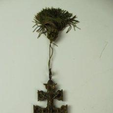 Antigüedades: CRUZ DE CARAVACA EN BRONCE. PRIMER CUARTO S.XX.. Lote 101297747