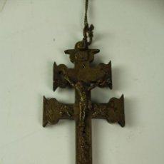 Antigüedades: CRUZ DE CARAVACA EN BRONCE. PRIMER CUARTO S.XX.. Lote 101298015