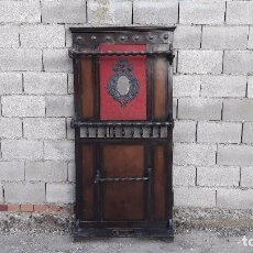 Antigüedades: ANTIGUO MUEBLE DE ENTRADA PERCHERO PARAGÜERO. RECIBIDOR SOMBRERO ANTIGUO CON ESPEJO. Lote 101333587