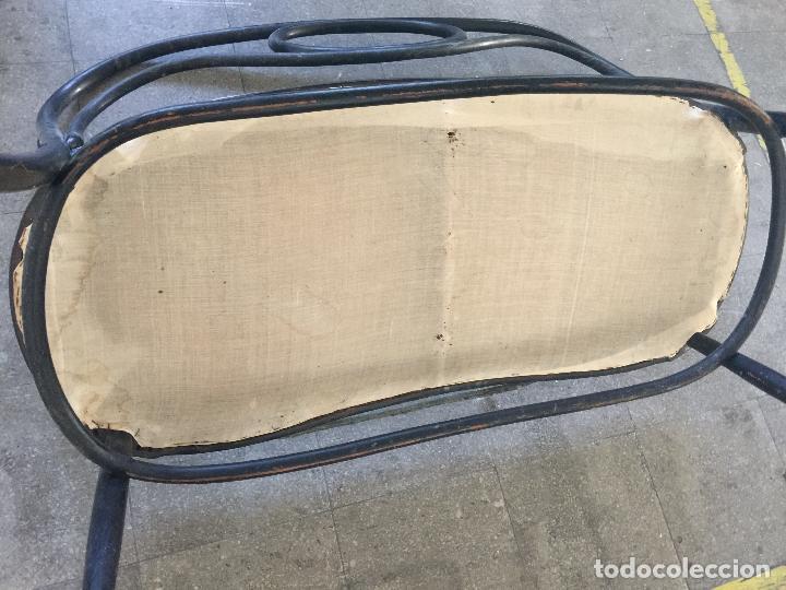Antigüedades: encantador banco, sillon o sofa Thonet, con capitoné terciopelo. Ppios 1900. Leer mas... - Foto 2 - 101352339