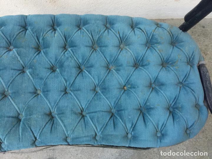 Antigüedades: encantador banco, sillon o sofa Thonet, con capitoné terciopelo. Ppios 1900. Leer mas... - Foto 3 - 101352339