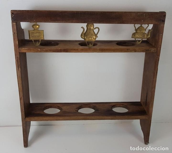 Antigüedades: JARRERA. ESTILO RUSTICO. MADERA DE ROBLE. ESPAÑA. SIGLO XX. - Foto 9 - 101358687