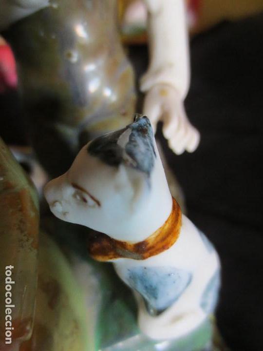 Antigüedades: FIGURA DE DOS NIÑOS DE PORCELANA, FIRMADA POR RAMON INGLES VALENCIA - Foto 6 - 101359399