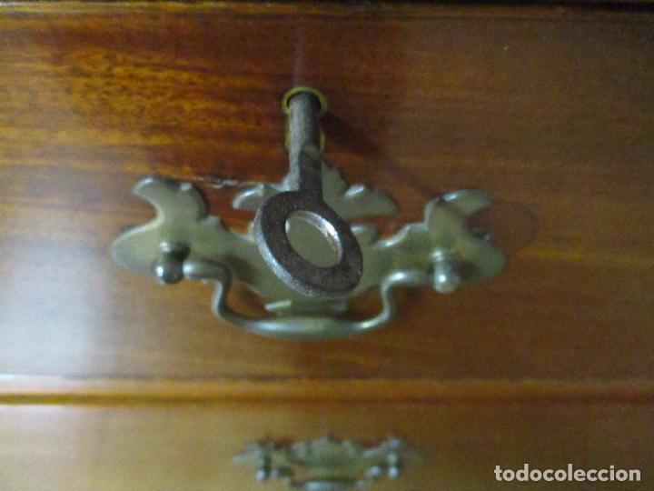 Antigüedades: Antiguo Buro - Canterano - Escritorio - Estilo Victoriano - Madera de Caoba - Finales S. XIX - Foto 18 - 101361691