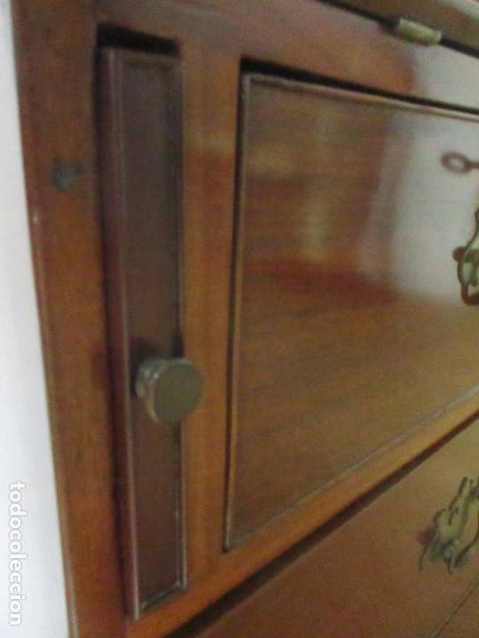 Antigüedades: Antiguo Buro - Canterano - Escritorio - Estilo Victoriano - Madera de Caoba - Finales S. XIX - Foto 19 - 101361691