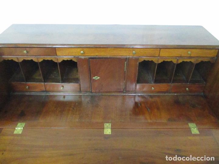Antigüedades: Antiguo Buro - Canterano - Escritorio - Estilo Victoriano - Madera de Caoba - Finales S. XIX - Foto 25 - 101361691