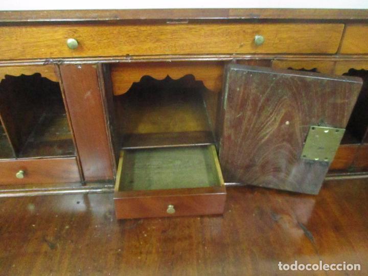 Antigüedades: Antiguo Buro - Canterano - Escritorio - Estilo Victoriano - Madera de Caoba - Finales S. XIX - Foto 28 - 101361691