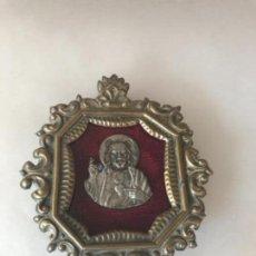 Antigüedades: RELICARIO DEL CRISTO DEL SAGRADO CORAZÓN . Lote 101362715