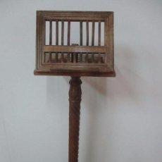Antigüedades: ATRIL DE PIE - MADERA TALLADA - SOPORTE PARA LIBROS, EN DIFERENTES POSICIONES. Lote 101363907