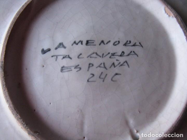 Antigüedades: GRAN PLATO ANTIGUO DE CERÁMICA : LA MENORA, DE TALAVERA SOLDADO DE FLANDES - Foto 5 - 101367867
