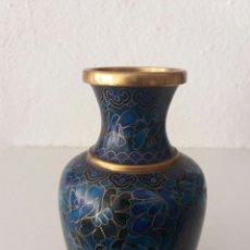 Antigüedades: PRECIOSO JARRON CHINO CLOISONNE ANTIGUO. Lote 101381939