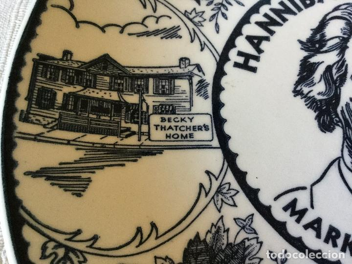 Antigüedades: Plato de Hannibal Missouri. Mark Twain's Home. EE. UU. - Foto 4 - 101386243