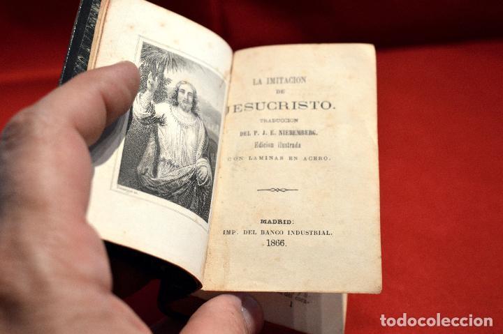 Antigüedades: IMITACION DE CRISTO KEMPIS MINIATURA 1866 JUAN EUSEBIO NIEREMBERG - Foto 9 - 101393435