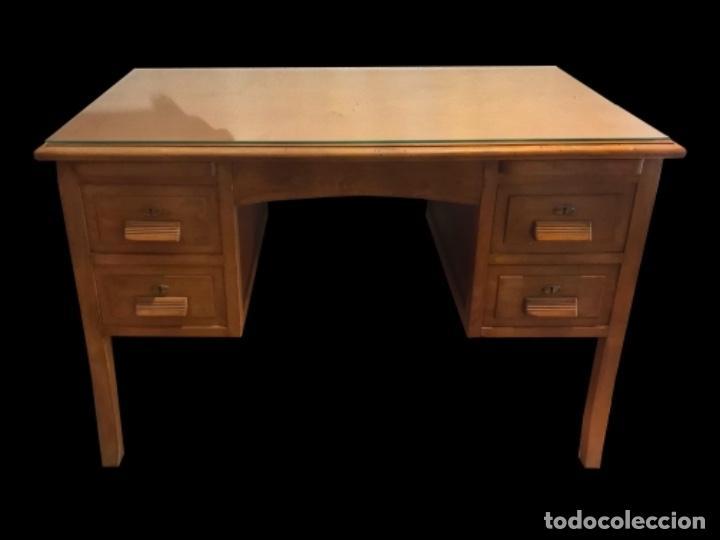 Antigüedades: Precioso escritorio , mesa, antiguo madera de haya, restaurado. - Foto 2 - 101395011