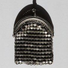 Antigüedades: ANTIGUO MONEDERO DE COTA DE MALLA S.XIX. PLATA?. Lote 101405339