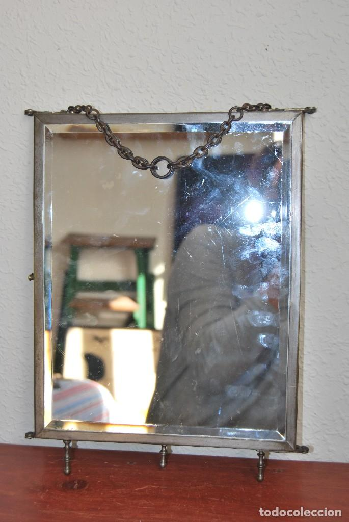 Antigüedades: ESPEJO TRÍPTICO - MARCO METAL - CUATRO ESPEJOS, CELULOIDE Y SÍMIL PIEL - ÓLEO - BREVETE - S.XIX - Foto 25 - 101434283