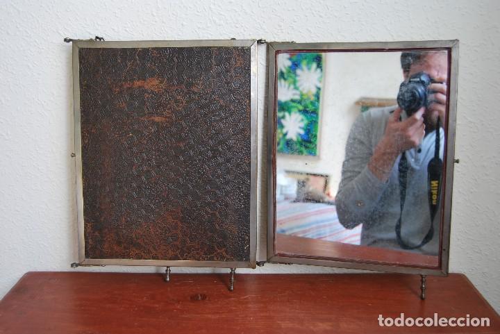 Antigüedades: ESPEJO TRÍPTICO - MARCO METAL - CUATRO ESPEJOS, CELULOIDE Y SÍMIL PIEL - ÓLEO - BREVETE - S.XIX - Foto 28 - 101434283