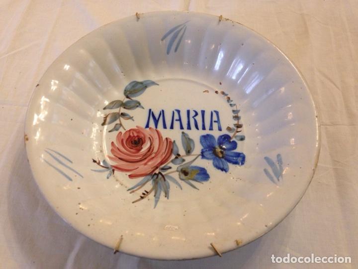PLATO DE MANISES SIGLO XIX (Antigüedades - Porcelanas y Cerámicas - Manises)