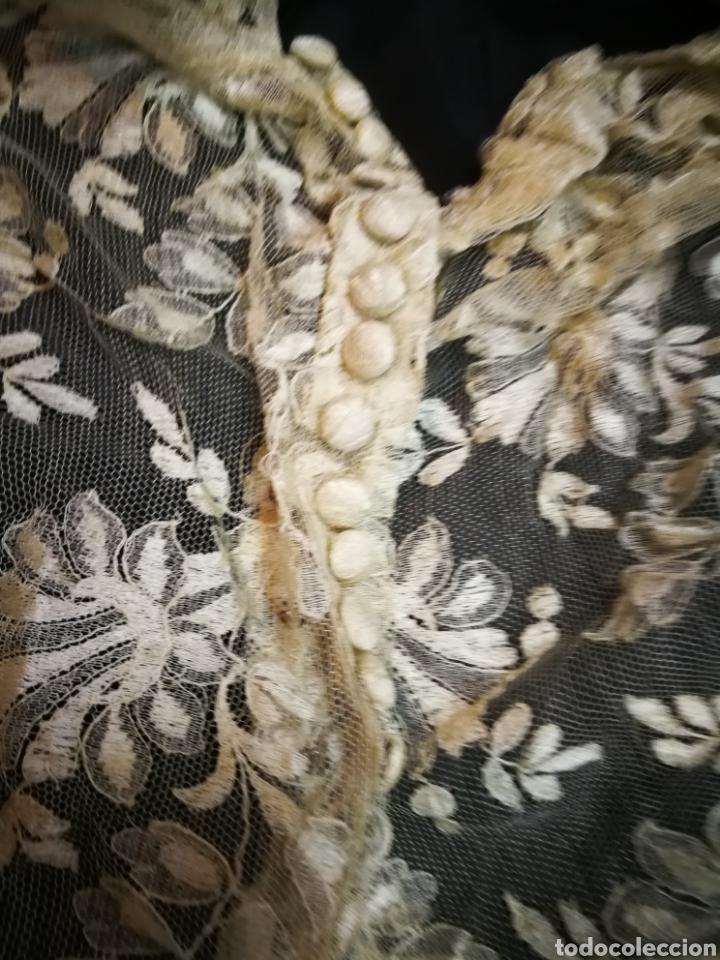 Antigüedades: Corpiño antiguo de encaje. Para restaurar - Foto 3 - 101440739