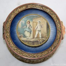 Antigüedades: CAJA-JOYERO EN METAL Y CON LITOGRAFIA EN LA TAPA. CIRCA 1930. Lote 101446699