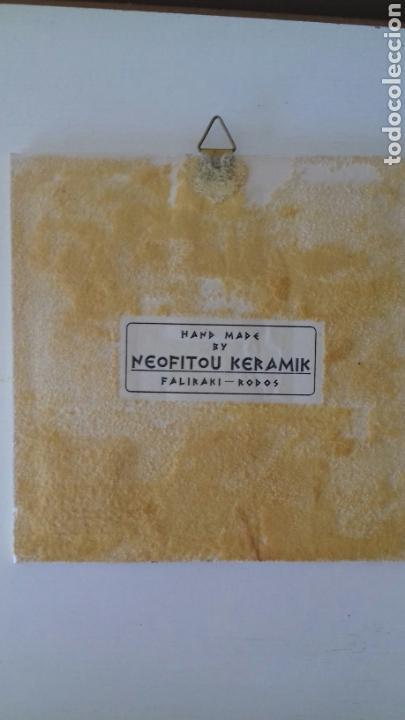 Antigüedades: Ceramica porcelana azulejo griego Neofitounj keramik - Foto 5 - 101449934