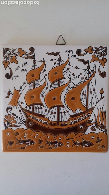 CERAMICA AZULEJO PINTADO A MANO GRIEGO NEOFITOUNJ KERAMIK (Antigüedades - Porcelanas y Cerámicas - Otras)