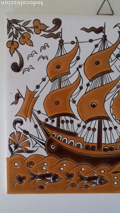 Antigüedades: Ceramica azulejo pintado a mano griego Neofitounj keramik - Foto 2 - 101450200