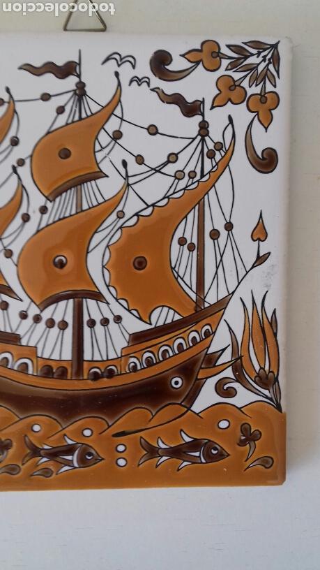 Antigüedades: Ceramica azulejo pintado a mano griego Neofitounj keramik - Foto 3 - 101450200