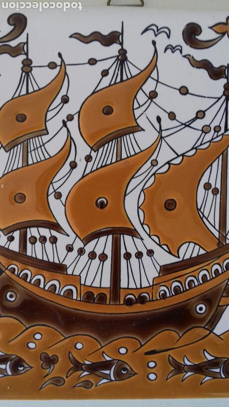 Antigüedades: Ceramica azulejo pintado a mano griego Neofitounj keramik - Foto 5 - 101450200