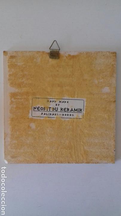 Antigüedades: Ceramica azulejo pintado a mano griego Neofitounj keramik - Foto 6 - 101450200