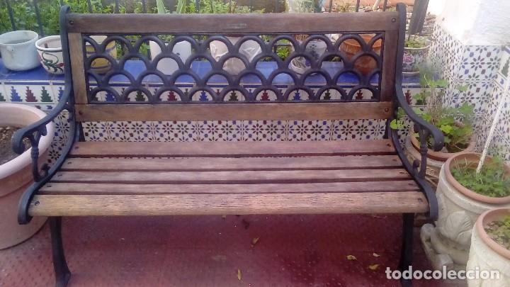 Mueble antiguo de jardin banco de madera y forj comprar muebles auxiliares antiguos en - Bancos de forja para jardin ...