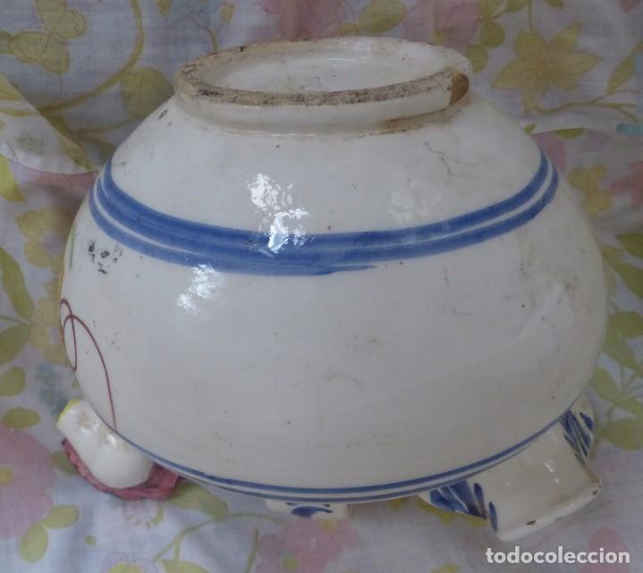 Antigüedades: BOTIJO DE CERÁMICA CON FORMA DE GALLO - Foto 2 - 172862325