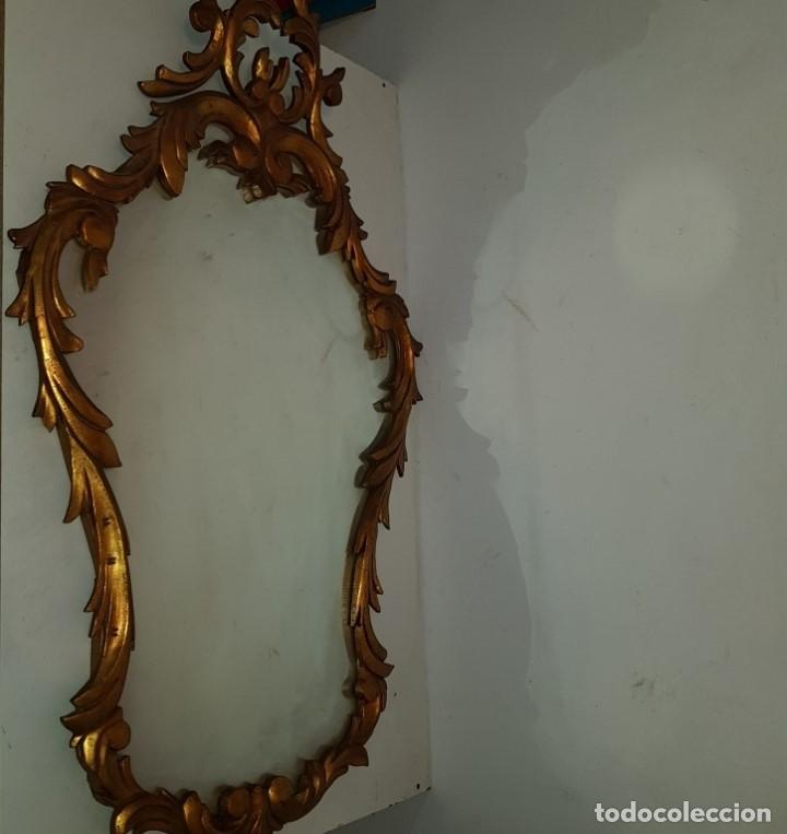 ESPEJO CORNUCOPIA DORADO (Antigüedades - Muebles Antiguos - Espejos Antiguos)