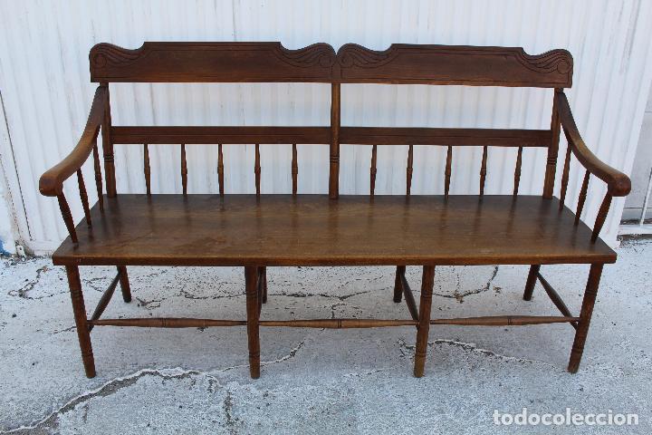 Sofa de madera comprar sof s antiguos en todocoleccion - Sofas antiguos de madera ...