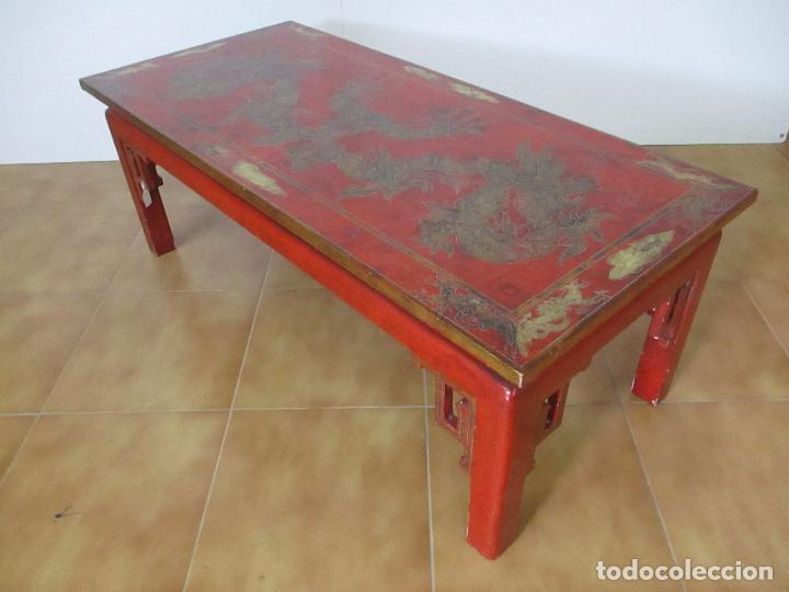 Antigua mesa de centro china oriental recta vendido for Mesas de centro antiguas