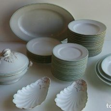 Antigüedades: VAJILLA PORCELANA FRANCESA. Lote 101523483