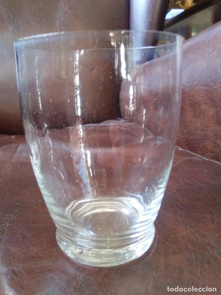 Antigüedades: Tres vasos de cristal soplado. - Foto 2 - 101545019