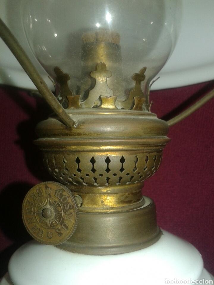 Antigüedades: ANTIGUO QUINQUEL OPALINA - Foto 6 - 101555388