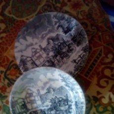 Antigüedades: LOTE DE 2 PLATOS ,LLANO Y HONDO IRUCH POSTA SAN CLAUDIO.. Lote 101556347