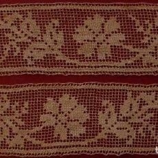 Antigüedades: ANTIGUO ENCAJE DE RED MANUAL S. XIX. Lote 101572007