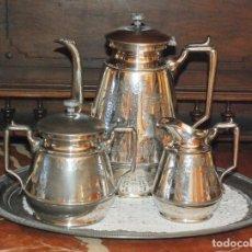 Antigüedades: ANTIGUO JUEGO CAFE PELTRE PLATEADO MERIDEN BRITANIA COMPANY AÑO 1862. Lote 101572211
